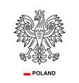 coat arms poland vector image