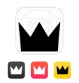Crown King icons vector image vector image
