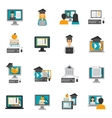 E-learning Icons Flat Set vector image