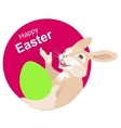 Easter bunny holding egg Happy easter vector image vector image