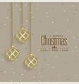 elegant golden christmas balls premium background vector image vector image