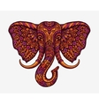 Festive indian elephant Ethnic patterns vector image