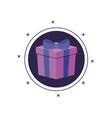 gift box present in frame circular vector image vector image