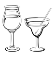 Glass with Drinks Pictograms vector image