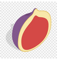 half of fig fruit isometric icon vector image