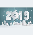 happy new year and winter season vector image vector image