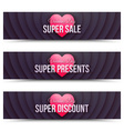 Happy Valentines Day web banners vector image