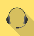 Headset with long shadow vector image vector image