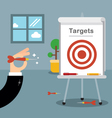 Hitting our targets vector image vector image