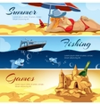 horizontal banners with pictures summer vector image vector image