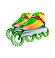 icon in-line skates vector image