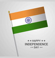 india independence day typographic design with vector image
