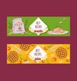 italian cuisine pasta recipe dishes and pies vector image