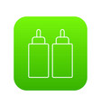 ketchup mustard squeeze bottle icon green vector image vector image