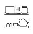 kitchen drawers icon vector image vector image