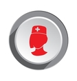 Medical hospital nurse doctor icon Woman face vector image