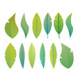 modern flat fantasy leaves herbariumplantstrees vector image