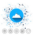 mountain icon mountaineering sport sign vector image