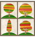 Multicolor tree set vector image