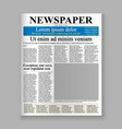 newspaper front page vector image