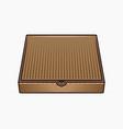 pizza cardboard box colored vector image vector image