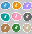 push pin symbols Multicolored paper stickers vector image