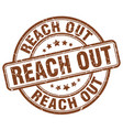 reach out brown grunge stamp vector image vector image