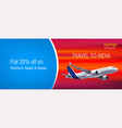 realistic banner for cheap flights business vector image vector image