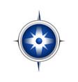 realistic blue compass symbol design vector image vector image