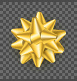 realistic detailed 3d golden gift bow on a vector image vector image
