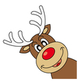 Reindeer wishing Merry Christmas vector image