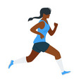 running woman flat vector image