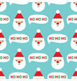 seamless christmas pattern with santa claus face vector image vector image