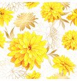 seamless pattern summer flowers vector image vector image