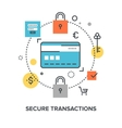 secure transaction concept vector image vector image