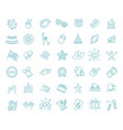 set 42 usa independence day line icons suitable vector image vector image