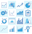 set of business graphs vector image