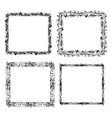 set of square grunge frame vector image