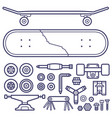 skateboarding repair icon set vector image vector image