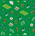 soccer stadium competition seamless pattern vector image vector image