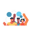 social friend group for communication concept vector image vector image