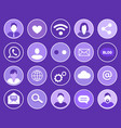 social network profiles set vector image vector image