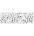 socks hand drawn doodle set vector image vector image