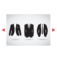 suit selection vector image vector image