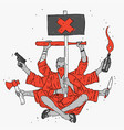 symbol aggressive protest vector image vector image