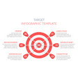 target with six arrows vector image vector image