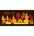 Thailand Landmark Colorful Shapes Dark Background vector image vector image