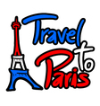 Travel to Paris message vector image vector image