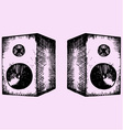 two sound speakers vector image vector image