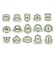 vintage badge retro sticker or premium vector image vector image